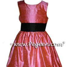 CUSTOM WATERMELON PINK FLOWER GIRL DRESSES