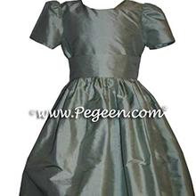 CUSTOM MARTHA GREEN FLOWER GIRL DRESSES