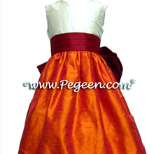 Mango and beauty silk junior bridesmaid dresses