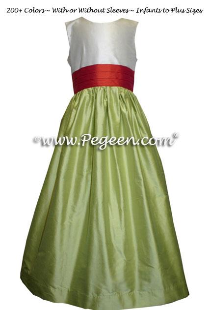 Junior bridesmaids dresses in chcolate