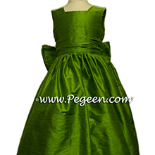 grass green flower girl dresses