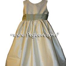 CUSTOM YELLOW FLOWER GIRL DRESSES