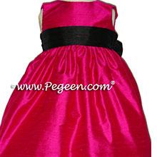 RASPBERRY SILK FLOWER GIRL DRESSES
