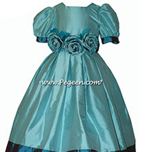 Bahama Breeze and Baltic silk Flower Girl Dresses style 401