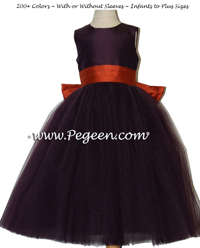 1000 Nights ballerina style FLOWER GIRL DRESSES with layers and layers of tulle