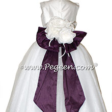 1000 Nights and Antique White Silk and Tulle ballerina style Flower Girl Dresses