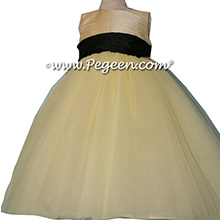 Baby Chick and Black ballerina style Flower Girl Dresses