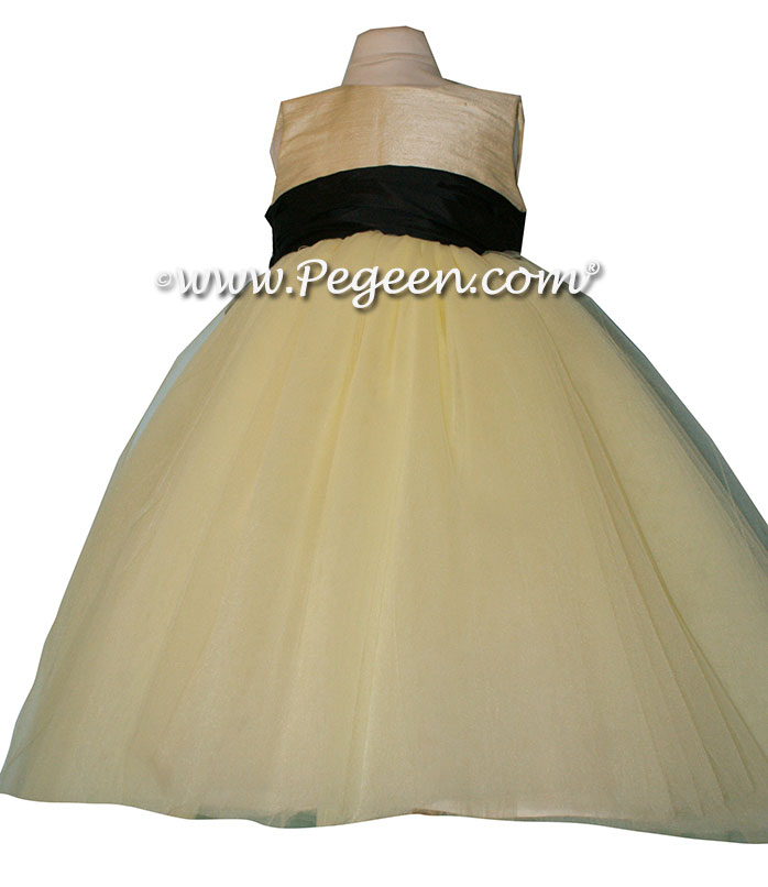 Baby Chick silk ballerina style Flower Girl Dresses with layers and layers of tulle