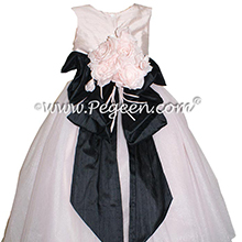Ballet Pink and Black ballerina style flower girl dresses