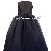Flower Girl Dresses with layers and layers of tulle in Black - Pegeen Couture Style 402