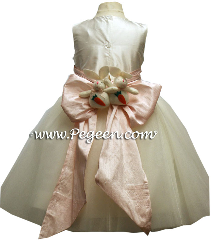 Wild Berry Plum and Petal Pink ballerina style flower girl dress with layers of tulle