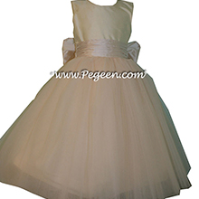Flower Girl Dresses in style 402 in champagne pink and bisque