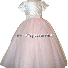 CHAMPAGNE PINK AND IVORY Flower Girl Dresses