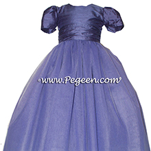 Flower Girl Dresses in eurolilac silk and tulle Style 402