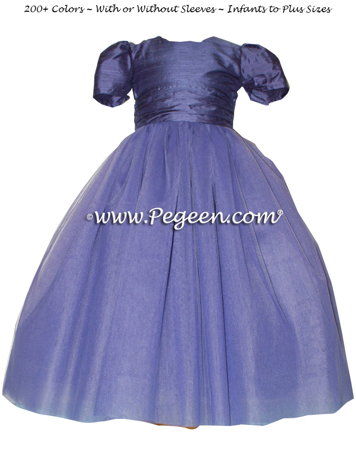 Pegeen's EUROLILAC and petal pink Tulle FLOWER GIRL DRESSES with 10 layers of tulle