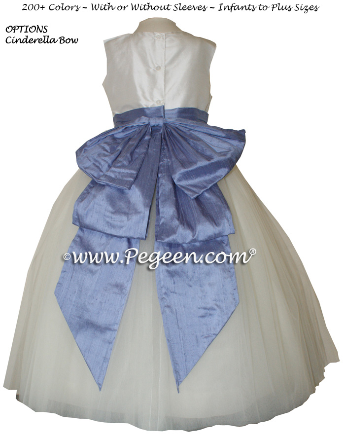 Europeri and Antique White flower girl dresses
