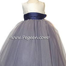 grape purple and ivory flower girl dresses