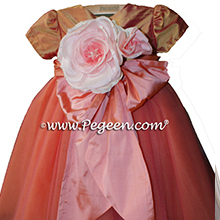 Pink Grapefruit and Orange Sherbert ballerina style FLOWER