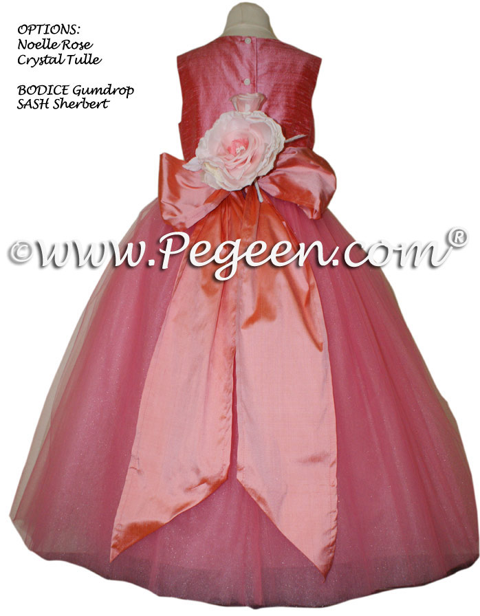 Sherbert and Gumdrop (pink) flower girl dresses