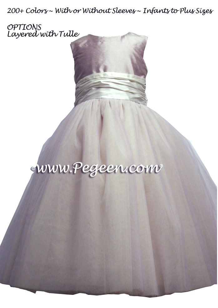 lavender FLOWER GIRL DRESSES with 10 layers of tulle