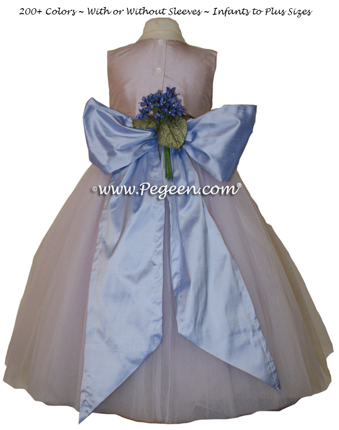 Lavender and Wisteria (light purplish-blue) tulle ballerina FLOWER GIRL DRESSES - Degas style