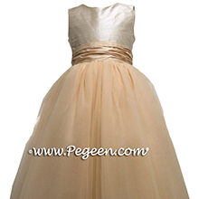 CHAMPAGNE PINK  AND SPRITE GREEN flower girl dresses