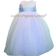 Wisteria and Orchid ballerina style Flower Girl Dress with Multiple layers of tulle