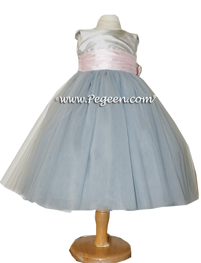 Morning gray petal pink and platinum flower girl dresses pegeen morning gray petal pink and platinum ballerina style flower girl dresses with layers and layers mightylinksfo
