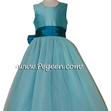 tiffany and mosaic tulle flower girl dresses