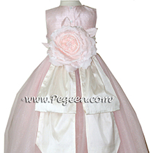 PINK TULLE CUSTOM FLOWER GIRL DRESSES