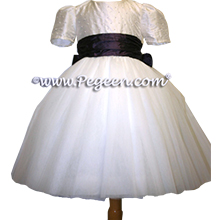 ballerina style flower girl dress with layers and layers of tulle