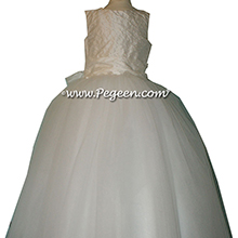 Pearled white communion dress