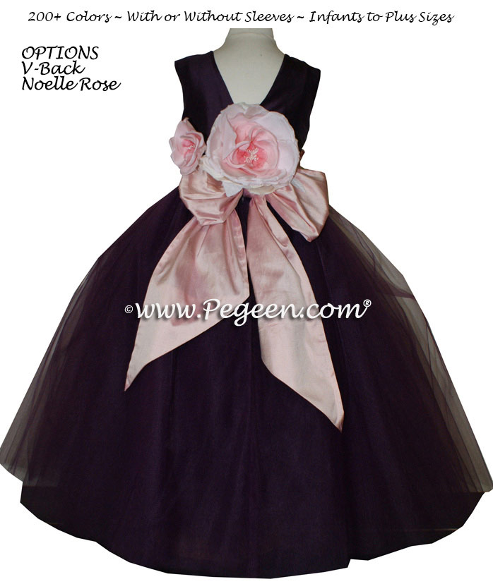 tulle flower girl dress by Pegeen