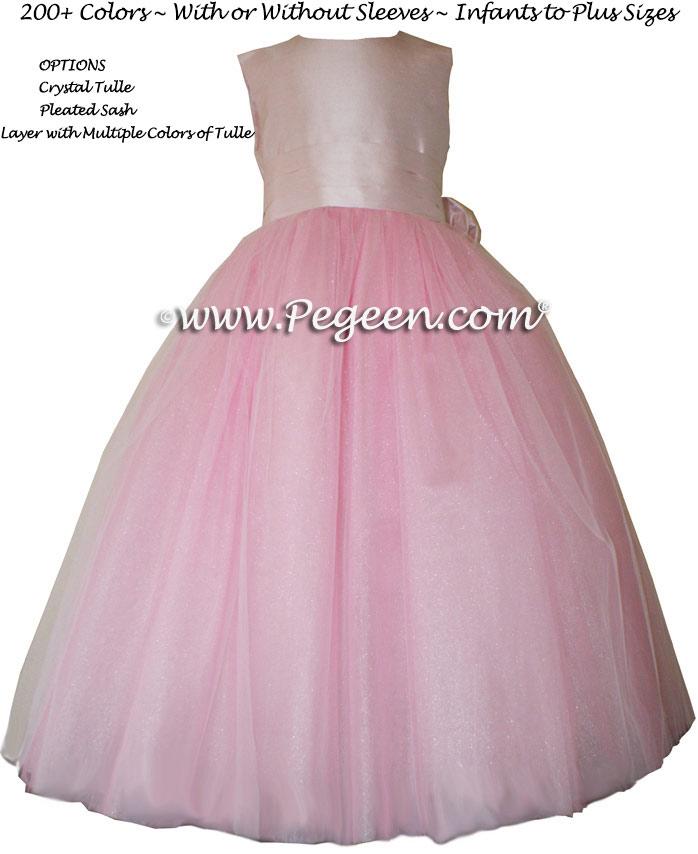 Peony Pink pink FLOWER GIRL DRESSES