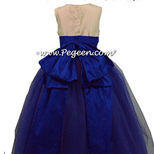 Sapphire and royal purple tulle flwoer girl dresses