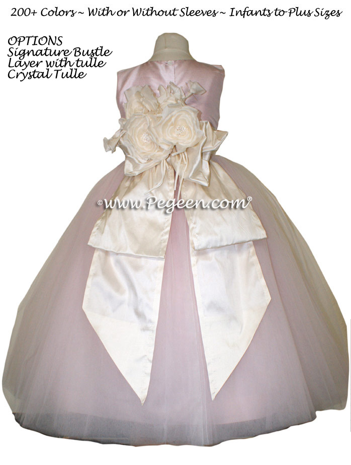 Flower Girl Dress of the Year with PEGEEN signature Bustle