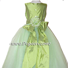 SPRITE GREEN TULLE CUSTOM Flower Girl Dresses