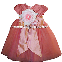 Icing and Sunset (coral) ballerina style Flower Girl Dresses with layers and layers of tulle