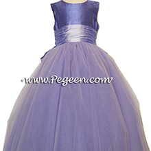 Lilac and Violet tulle flower girl dresses
