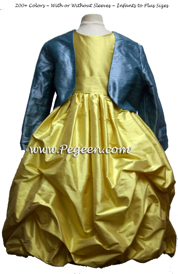 Beauty and the Beast Belle flower girl dress