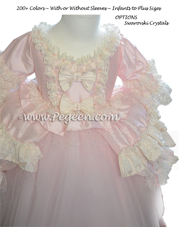 Ruffles, Glitter Tulle Flower Girl Dress Style 405 | Pegeen