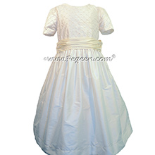 Antique White and Bisque First Communion Dress Style 409