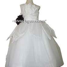 Antique White Organza Princess and the Frog Flower Girl Dresses by PEGEEN