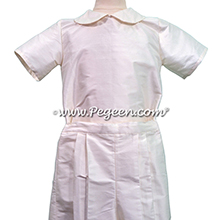 Style 286 Boys Ring Bearer Suit in Antique White with Short Sleeves