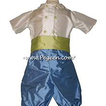 Style 509 Boys Ring Bearer Suit in Blue Moon and Citrus Green