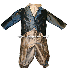 Style 590 Boys Ring Bearer Suit in Silver Gray and Arial Blue