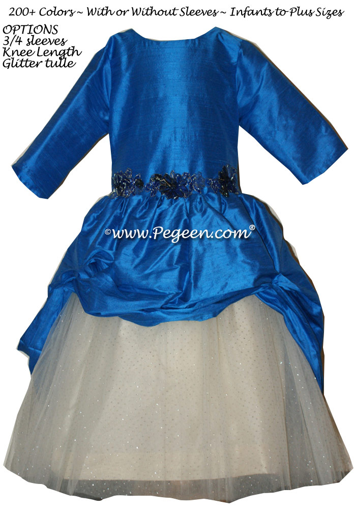Malibu Blue Custom Tulle Bat Mitzvah Dress Style 603