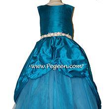 Mosaic teal or blue Custom Tulle PARTY NUTCRACKER DRESS OR flower girl dresses