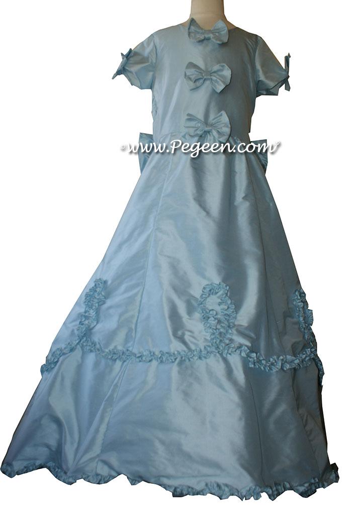 Baby Blue  Flower Girl Dresses Style 690