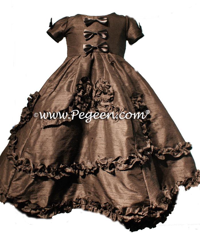 Black  Flower Girl Dresses Style 690